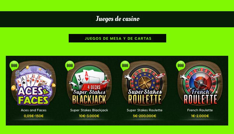 Juegos De Casino Top 10 Más Populares 888 Casino