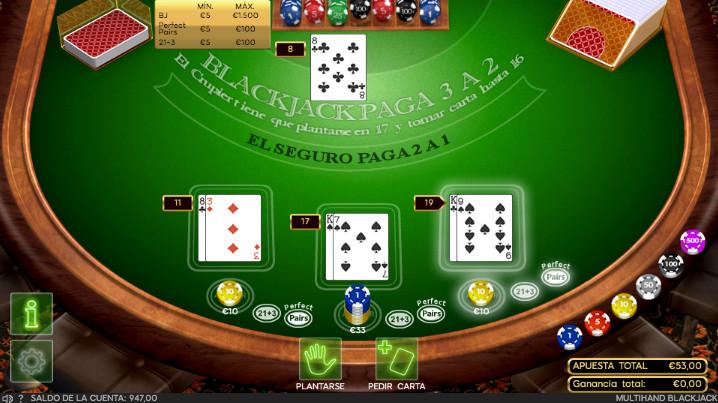 Elements of a blackjack game