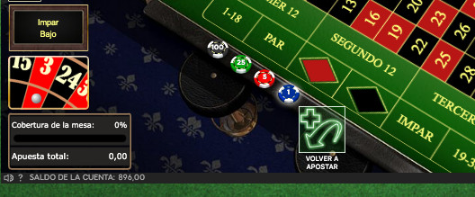 Ruleta Online con saldo no real