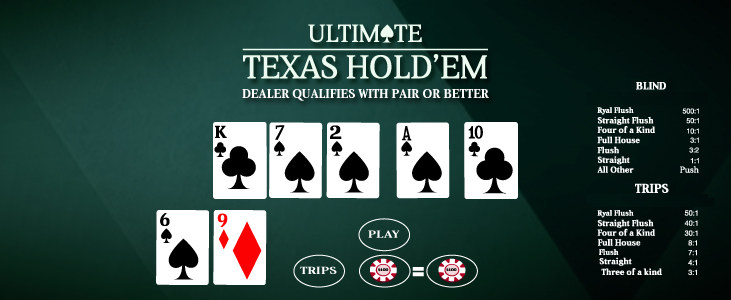 Mesa de Casino Ultimate Texas Holdem