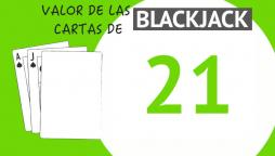 El valor de las cartas de blackjack